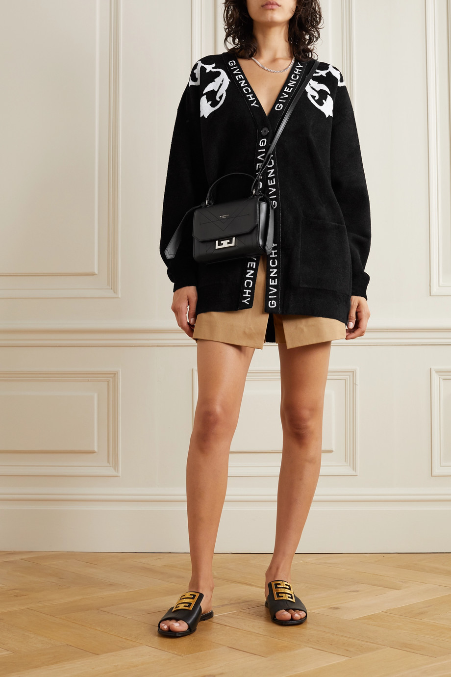 Givenchy Intarsia knitted cardigan