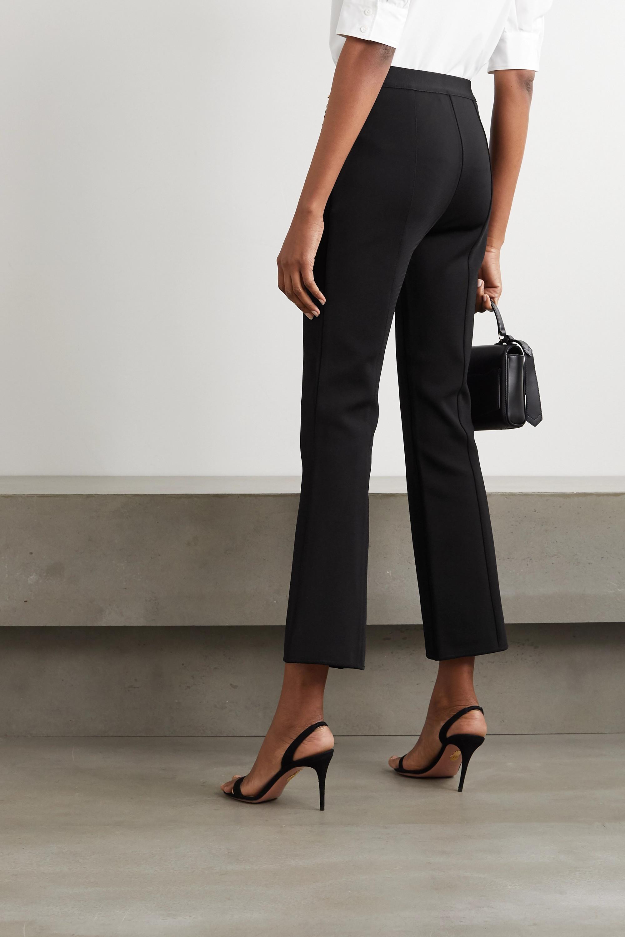 Givenchy Schlaghose aus Webstoff mit Kette