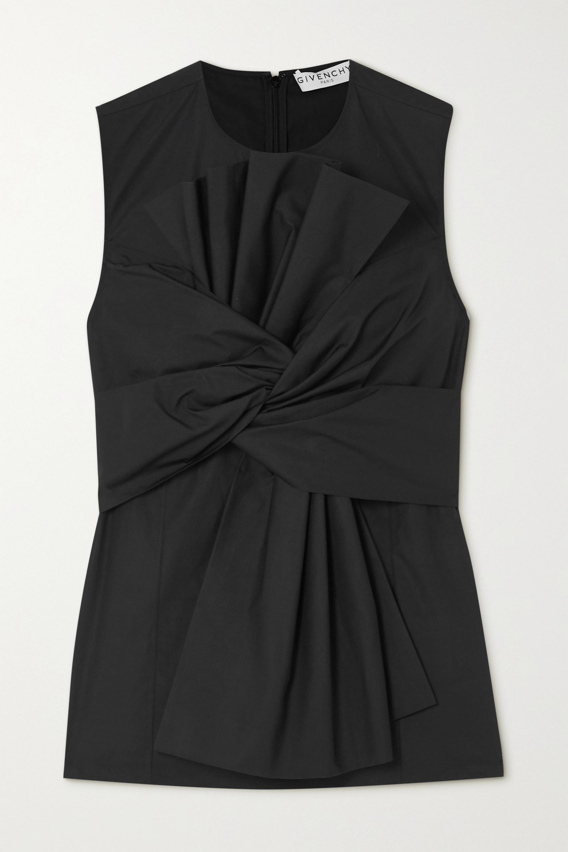Givenchy Oberteil aus Baumwollpopeline mit Falten und Raffungen