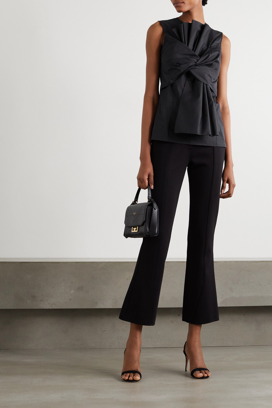 Givenchy Gathered pleated cotton-poplin top