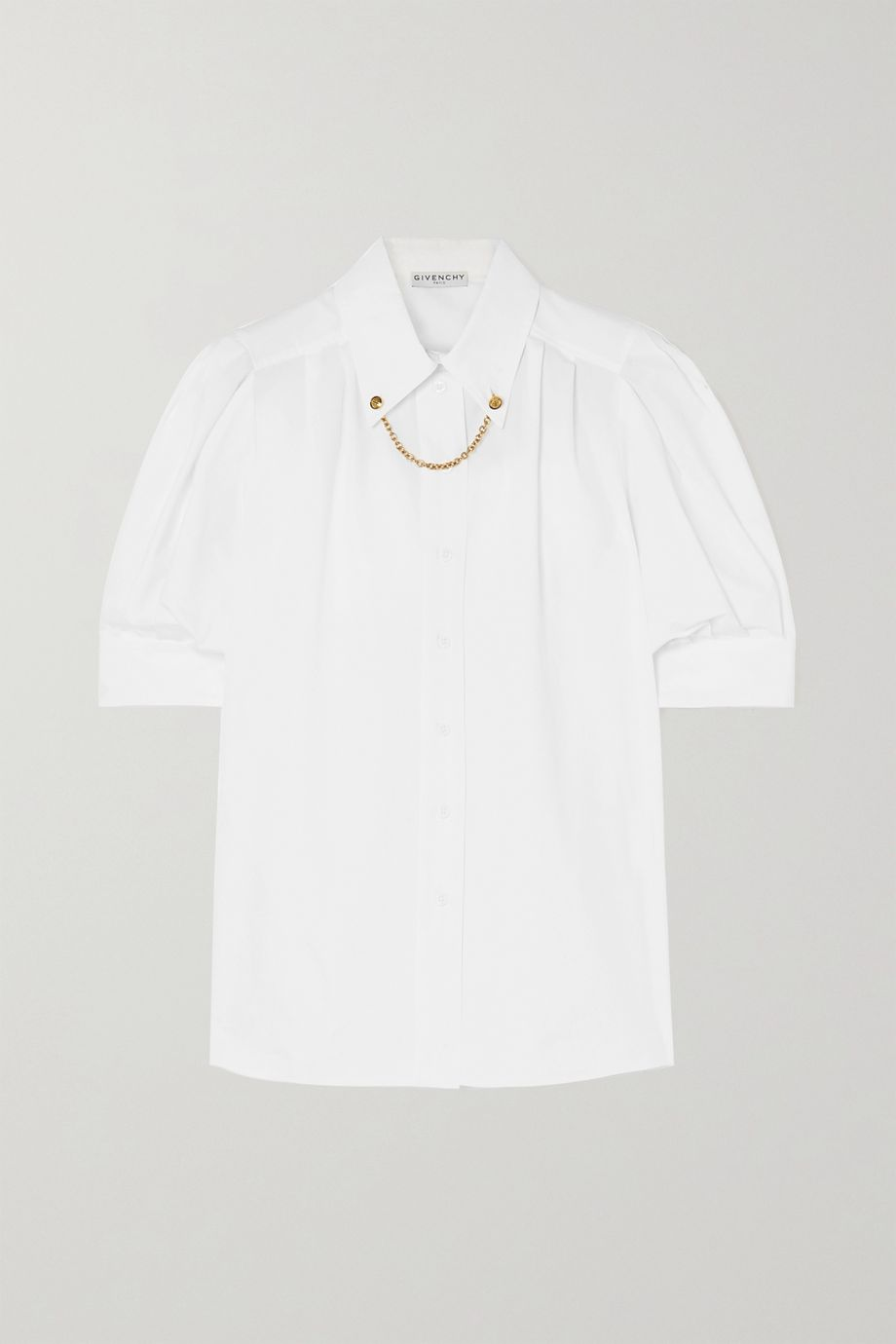 Givenchy Embellished cotton-poplin blouse
