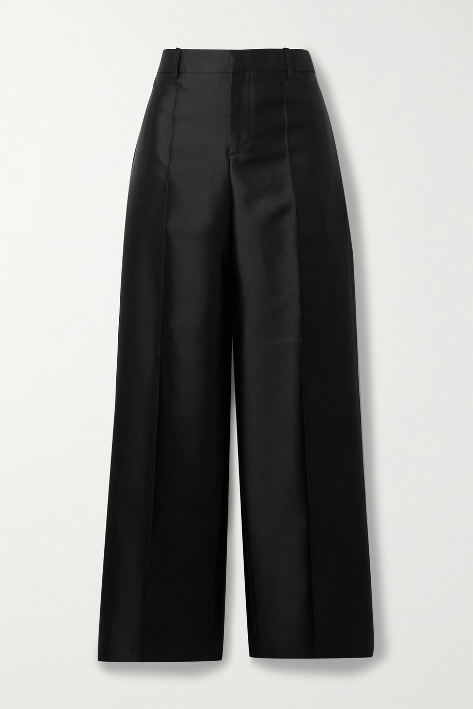 Givenchy Hose mit geradem Bein aus Satin aus einer Woll-Seidenmischung