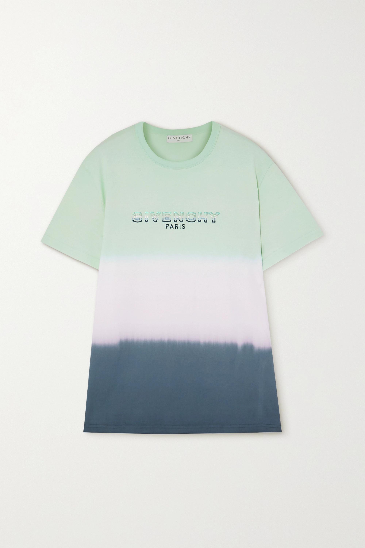 Givenchy T-Shirt aus Baumwoll-Jersey mit Farbverlauf und Stickerei