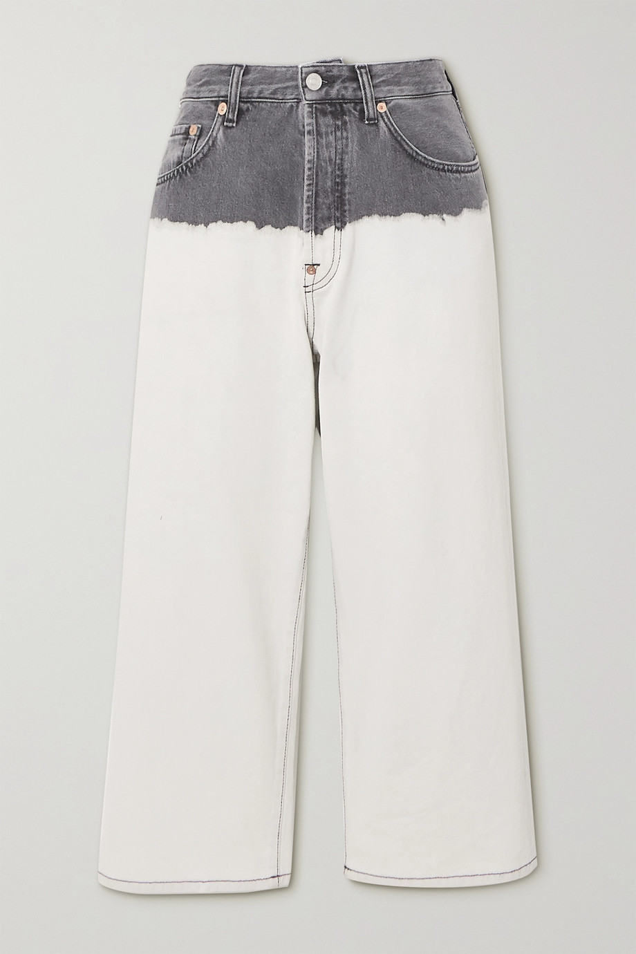 Givenchy Tie-dyed high-rise wide-leg jeans
