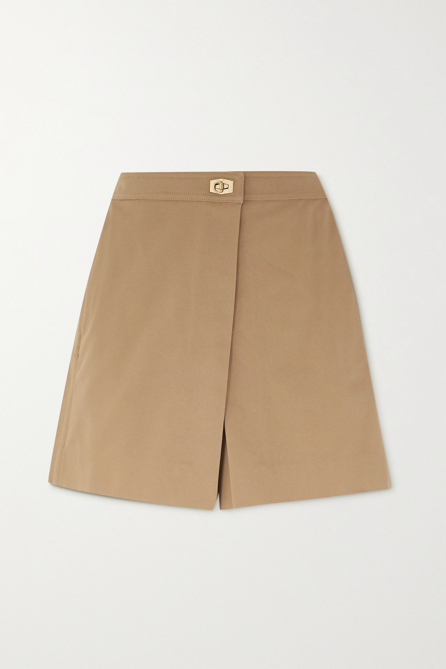 Givenchy Wrap-effect cotton-twill shorts