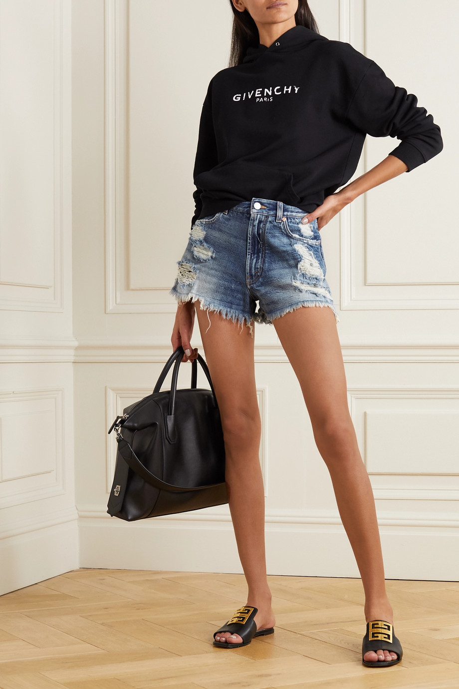 Givenchy Distressed denim shorts