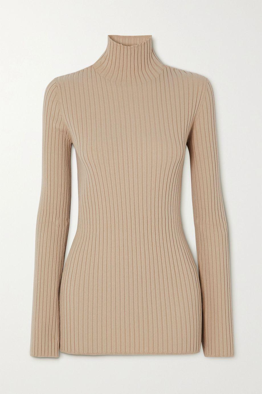 MM6 Maison Margiela Ribbed-knit turtleneck sweater