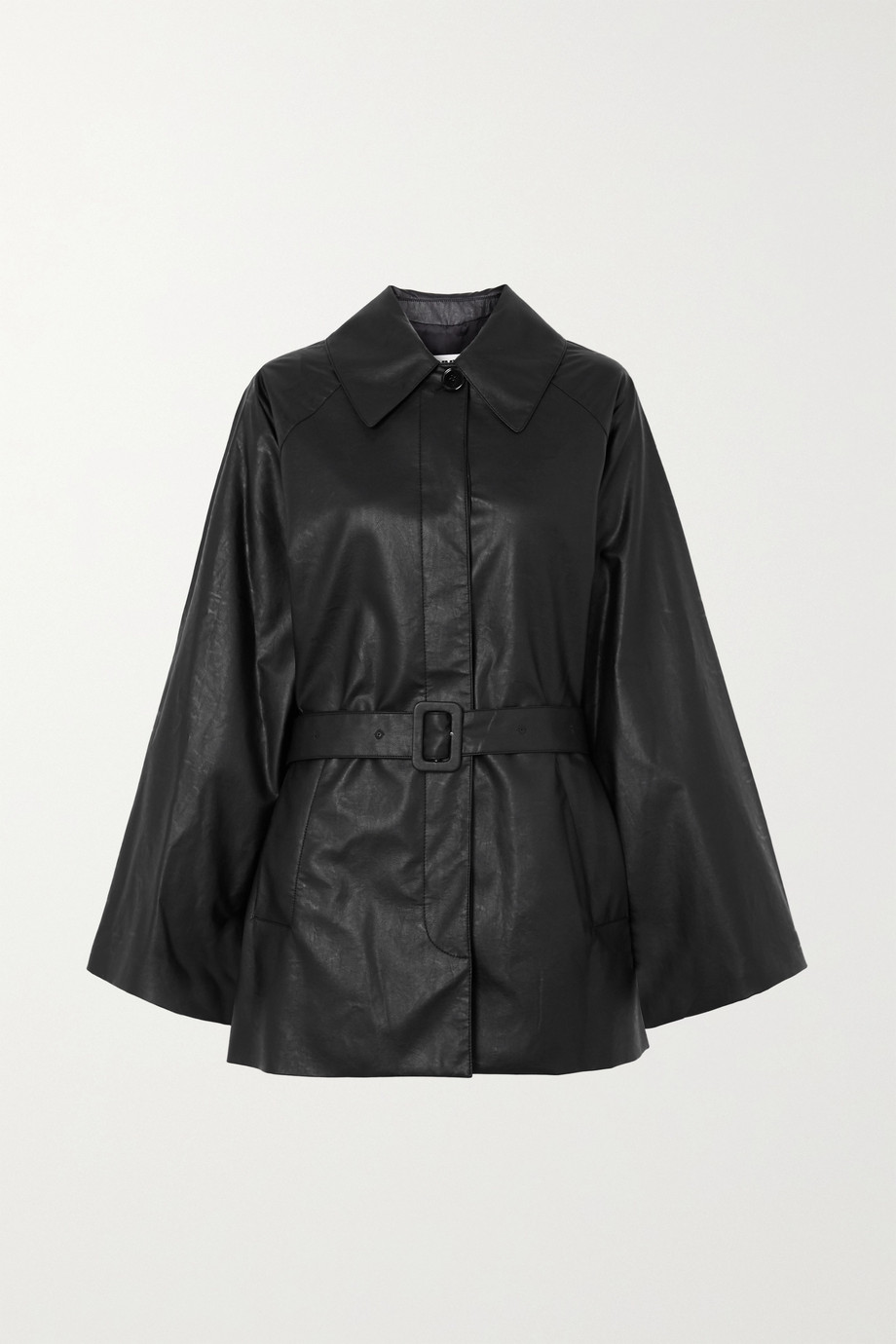 MM6 Maison Margiela Oversized belted faux leather jacket