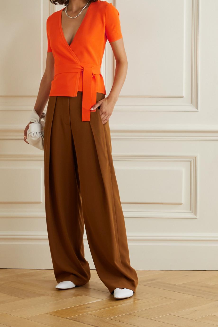 Diane von Furstenberg Mirella knitted wrap top