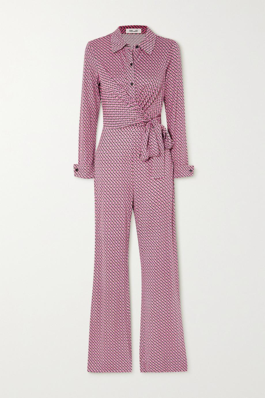 Diane von Furstenberg Michele wrap-effect printed silk-jersey jumpsuit