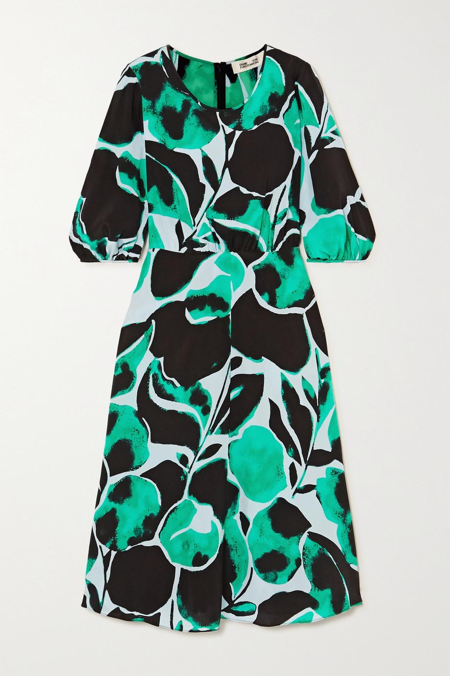 Diane von Furstenberg Robe en crêpe de Chine de soie imprimé Bliss
