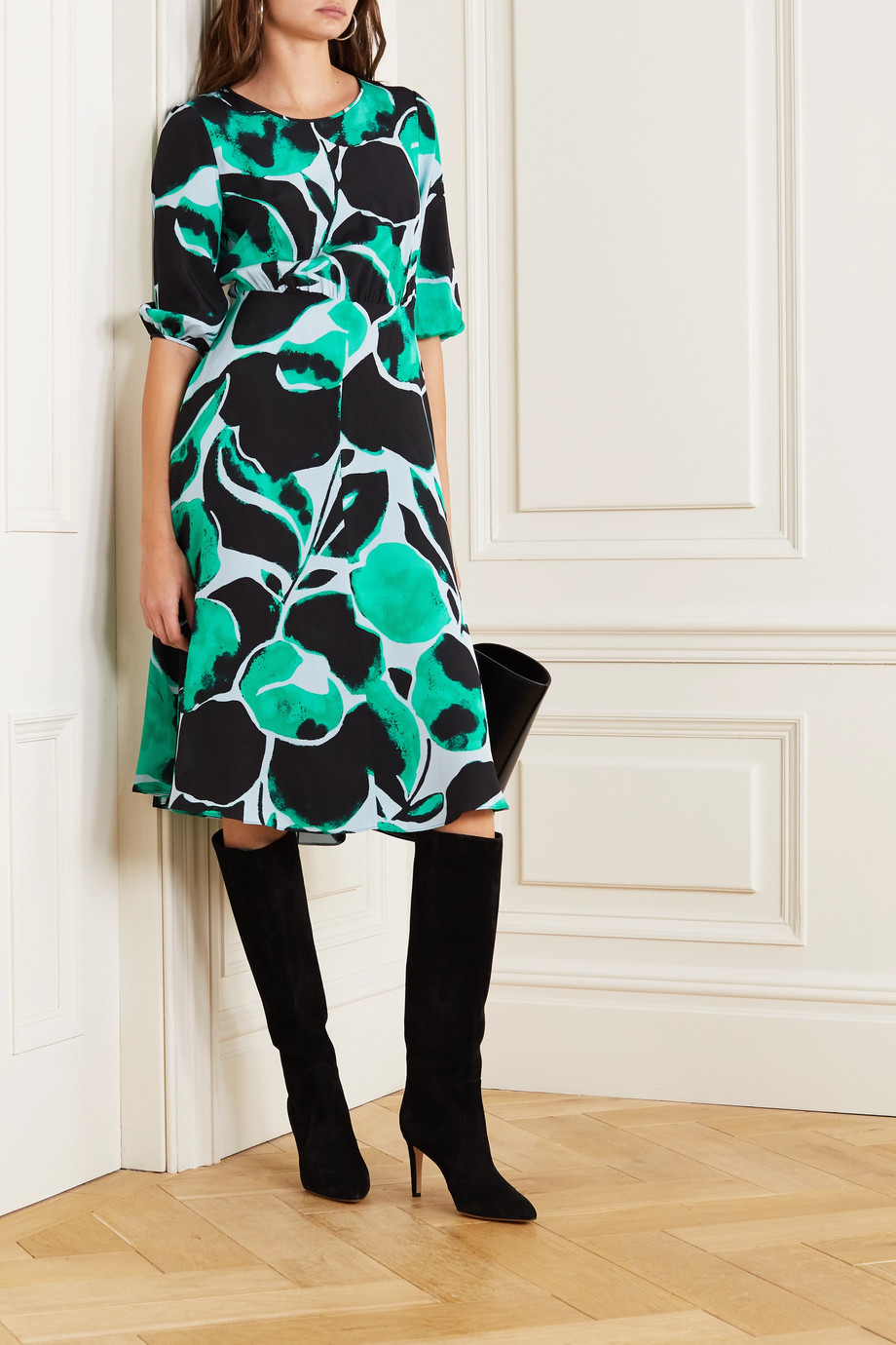 Diane von Furstenberg Bliss printed silk crepe de chine dress