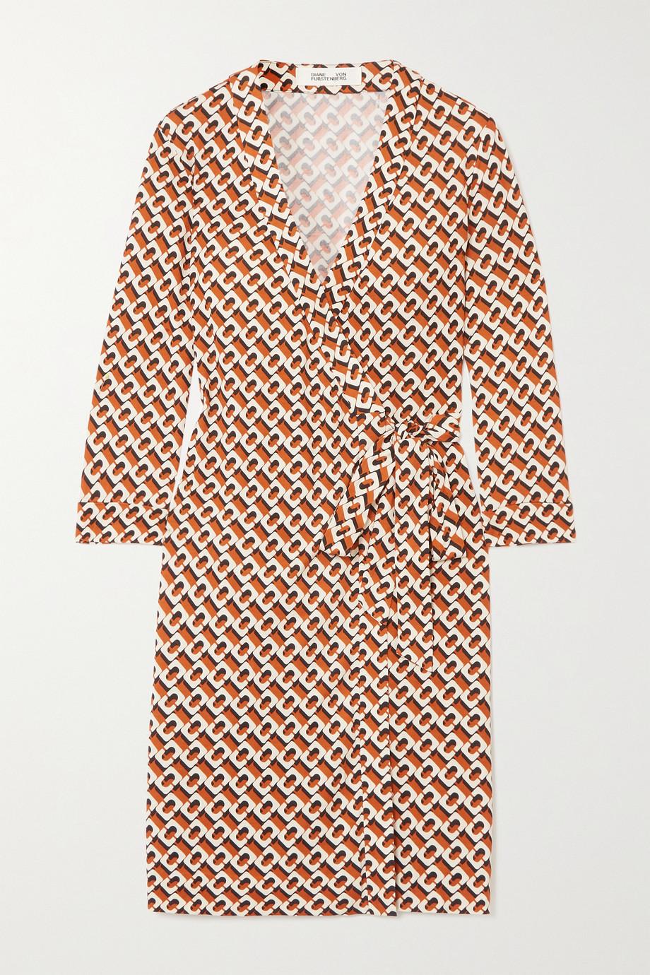Diane von Furstenberg Robe portefeuille en jersey de soie imprimé Julian