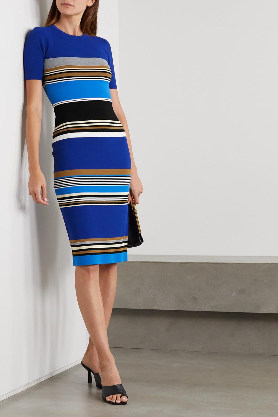 Diane von Furstenberg Dasha gestreiftes Kleid aus Strick