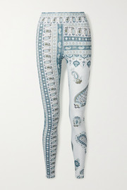 The Upside Fortune paisley-print stretch leggings