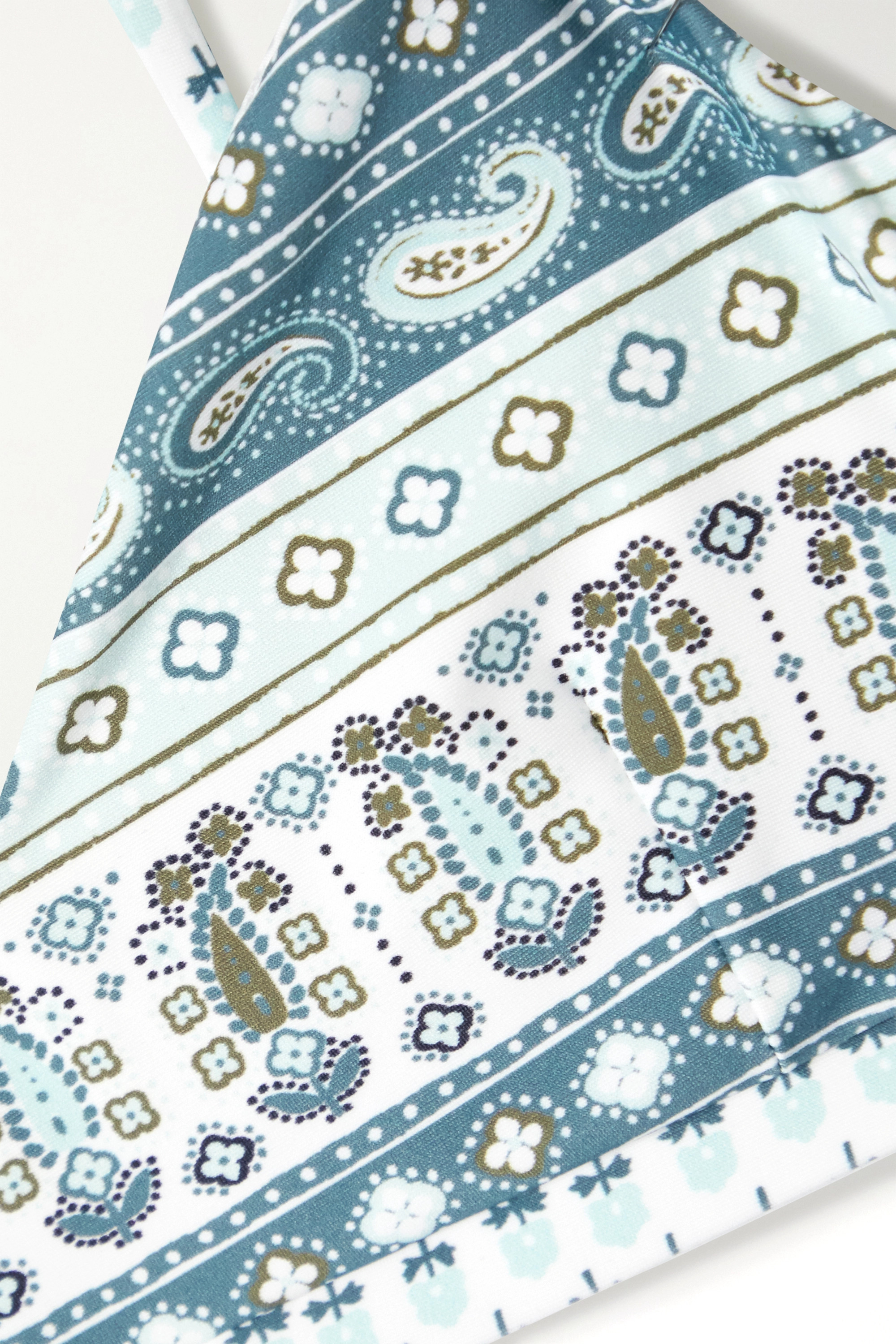 The Upside Fortune Sport-BH aus Stretch-Material mit Paisley-Print