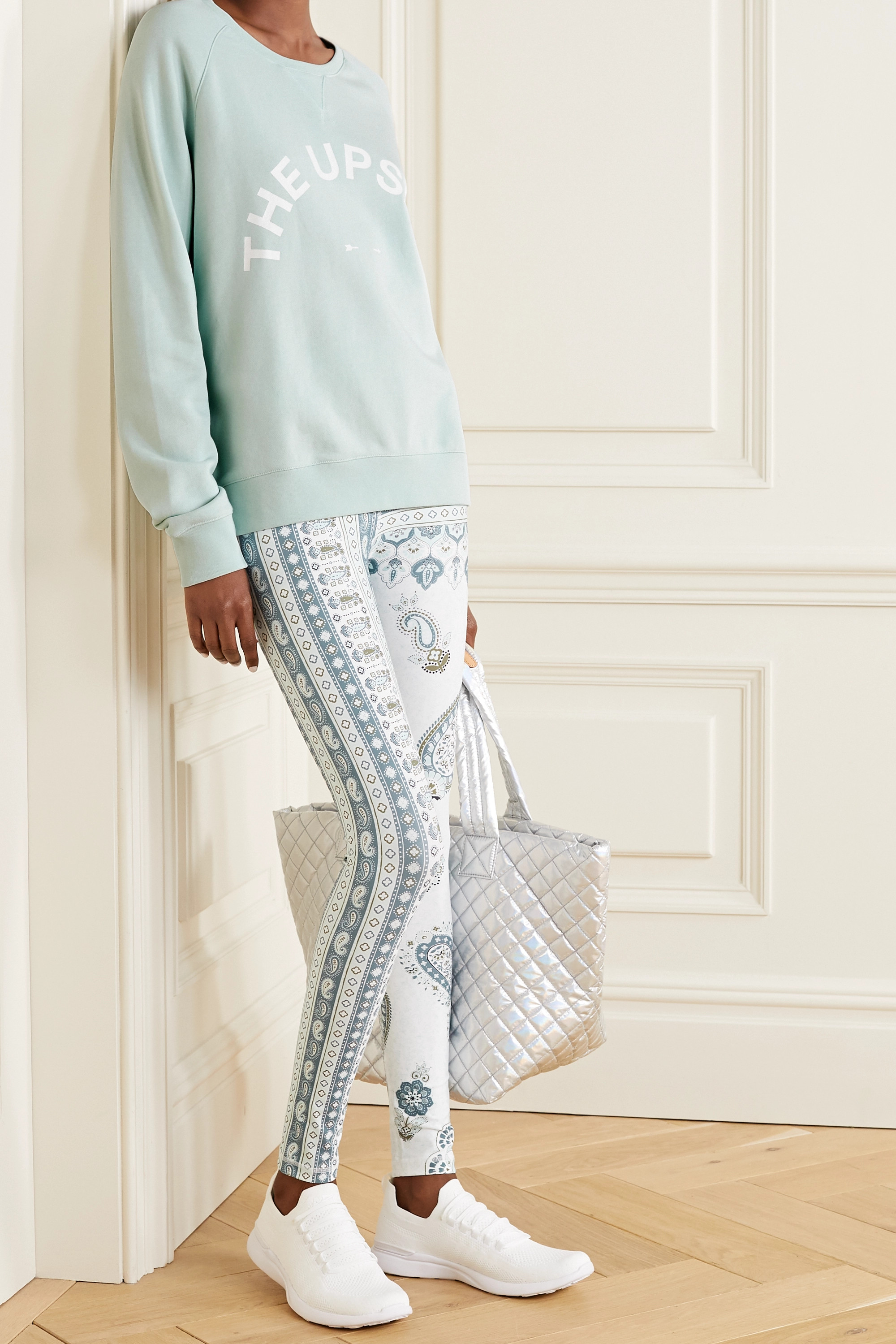 The Upside Bondi bedrucktes Sweatshirt aus Baumwoll-Jersey