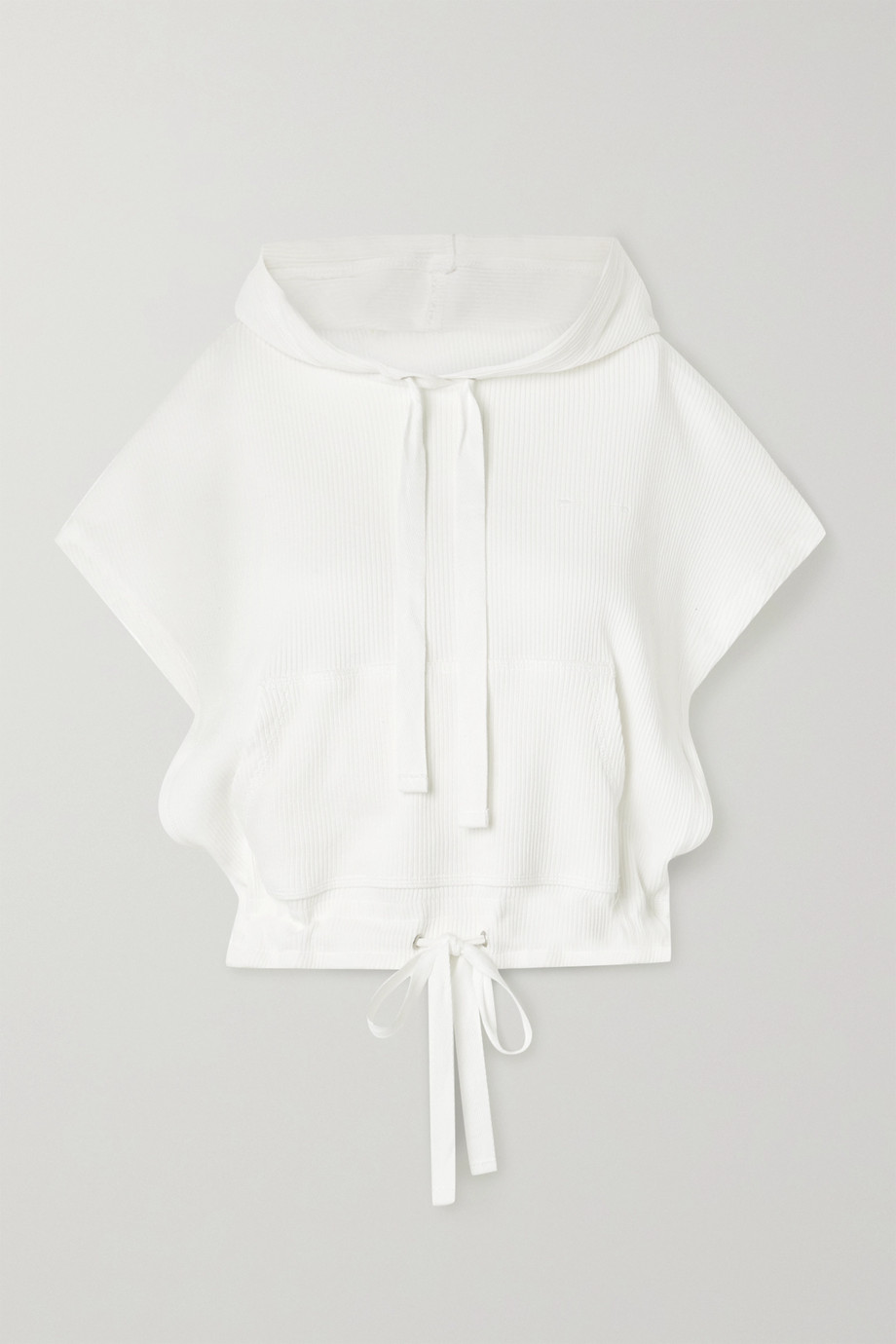 The Upside Ezi cropped ribbed cotton-jersey hoodie