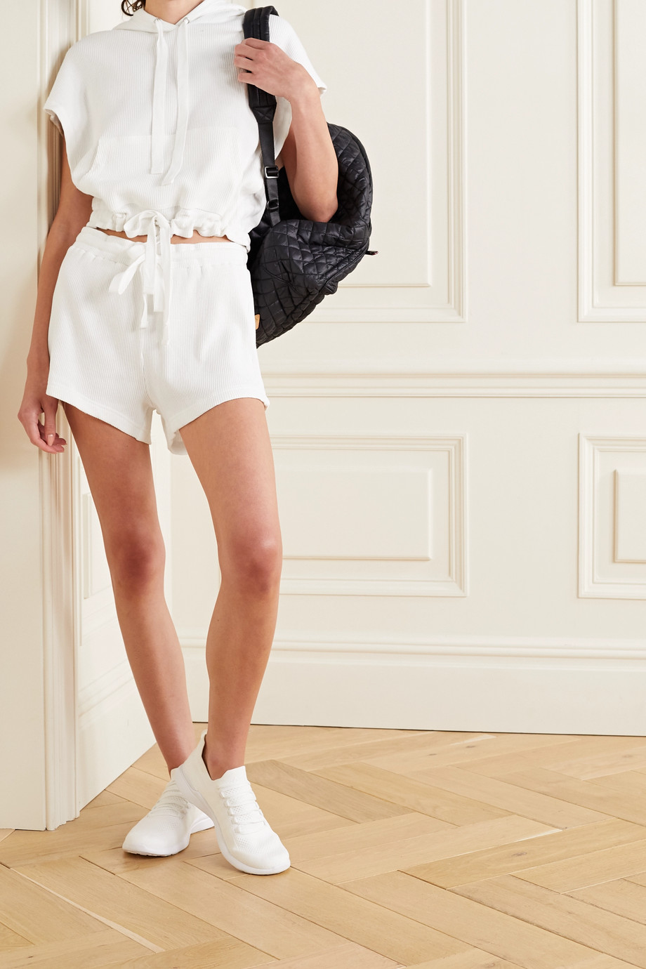 The Upside Ezi ribbed cotton-jersey shorts