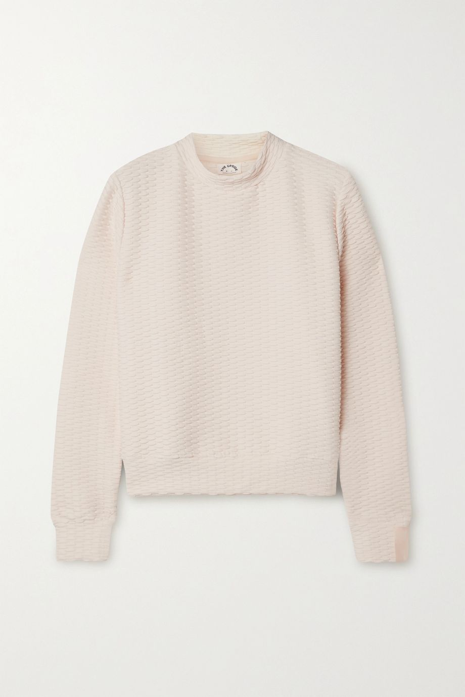 The Upside Inverto textured stretch-knit sweatshirt