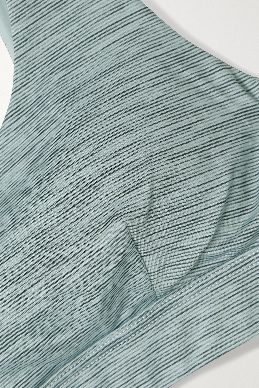 The Upside Ocean Daisy Sport-BH aus Stretch-Material in Space-Dye-Optik