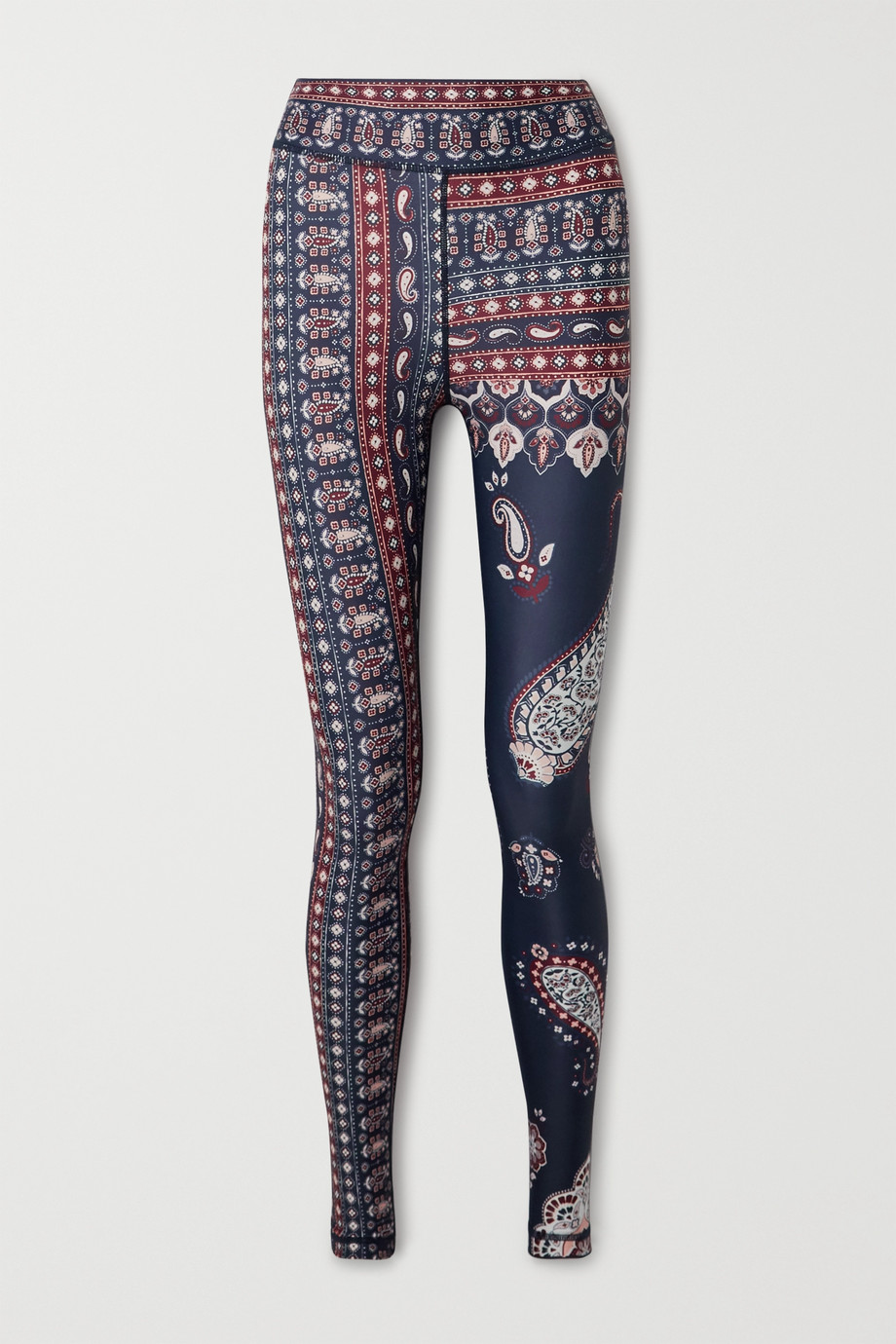 The Upside Fortune Stretch-Leggings mit Paisley-Print