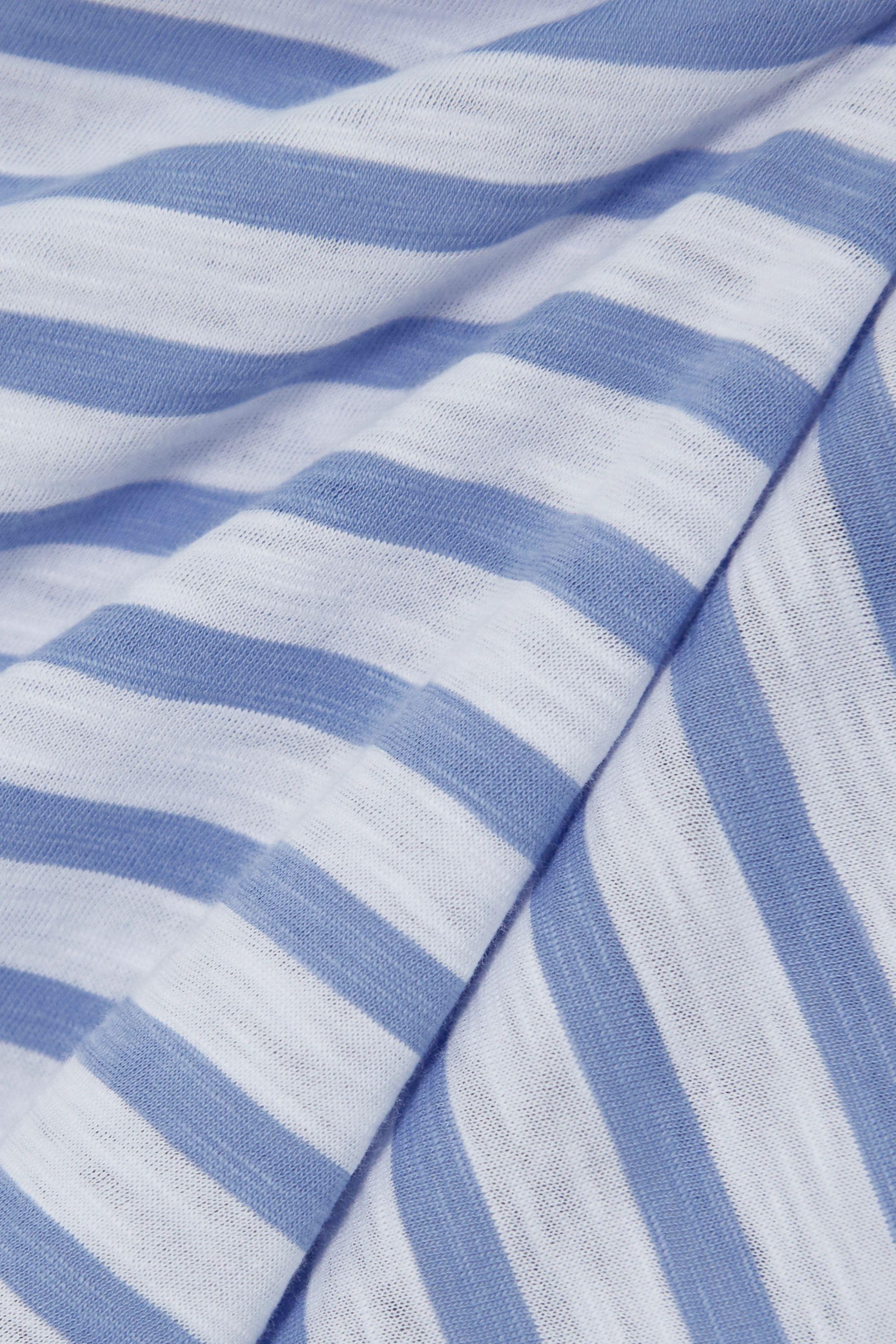 La Ligne Rickie cropped striped cotton-jersey T-shirt