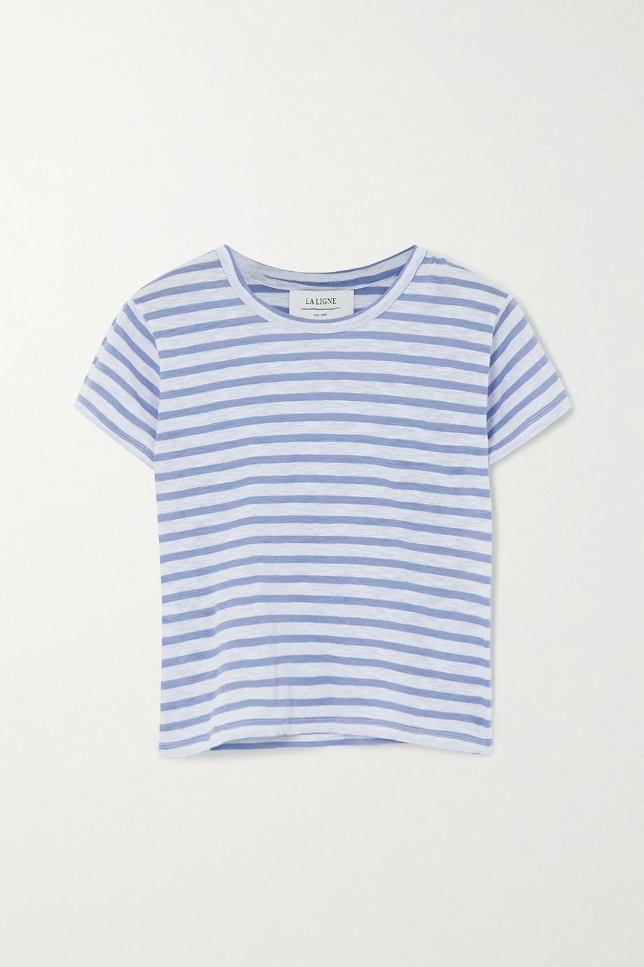 La Ligne Rickie cropped striped cotton-jersey T-shirt