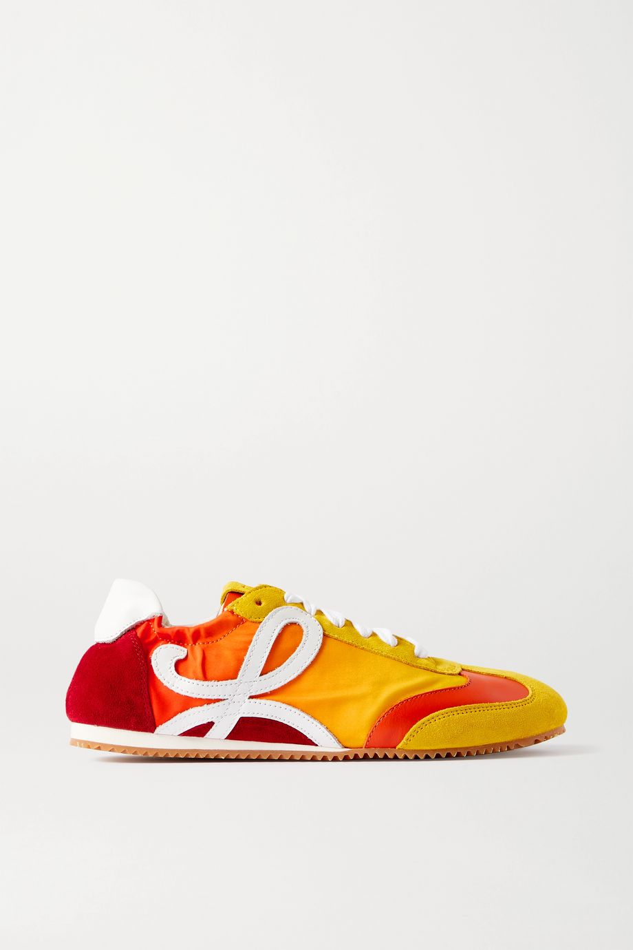 Loewe Leather, shell and suede sneakers