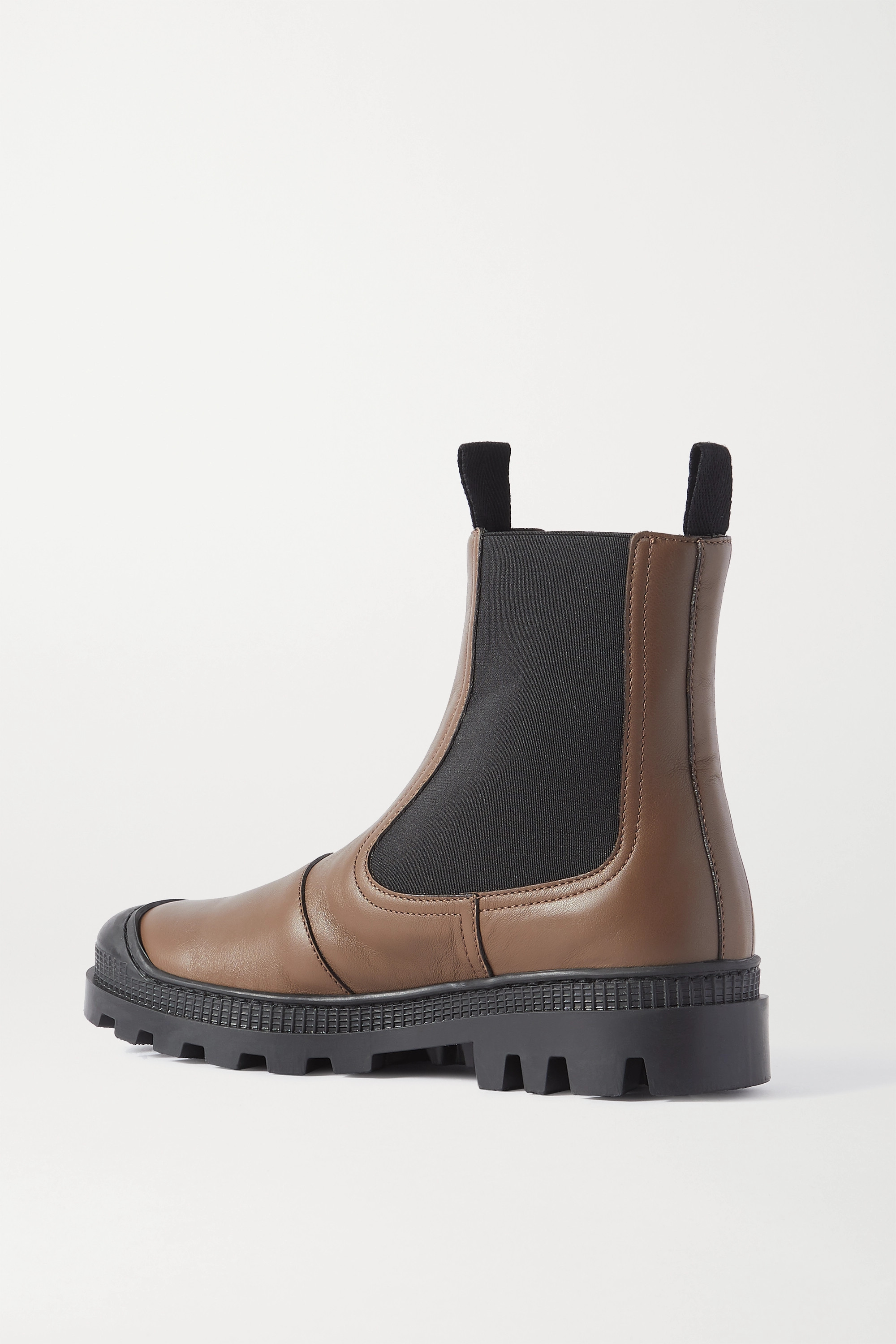 Loewe Rubber-trimmed leather Chelsea boots