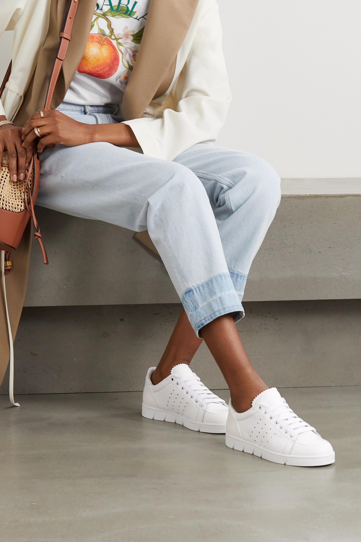 Loewe Textured-leather sneakers