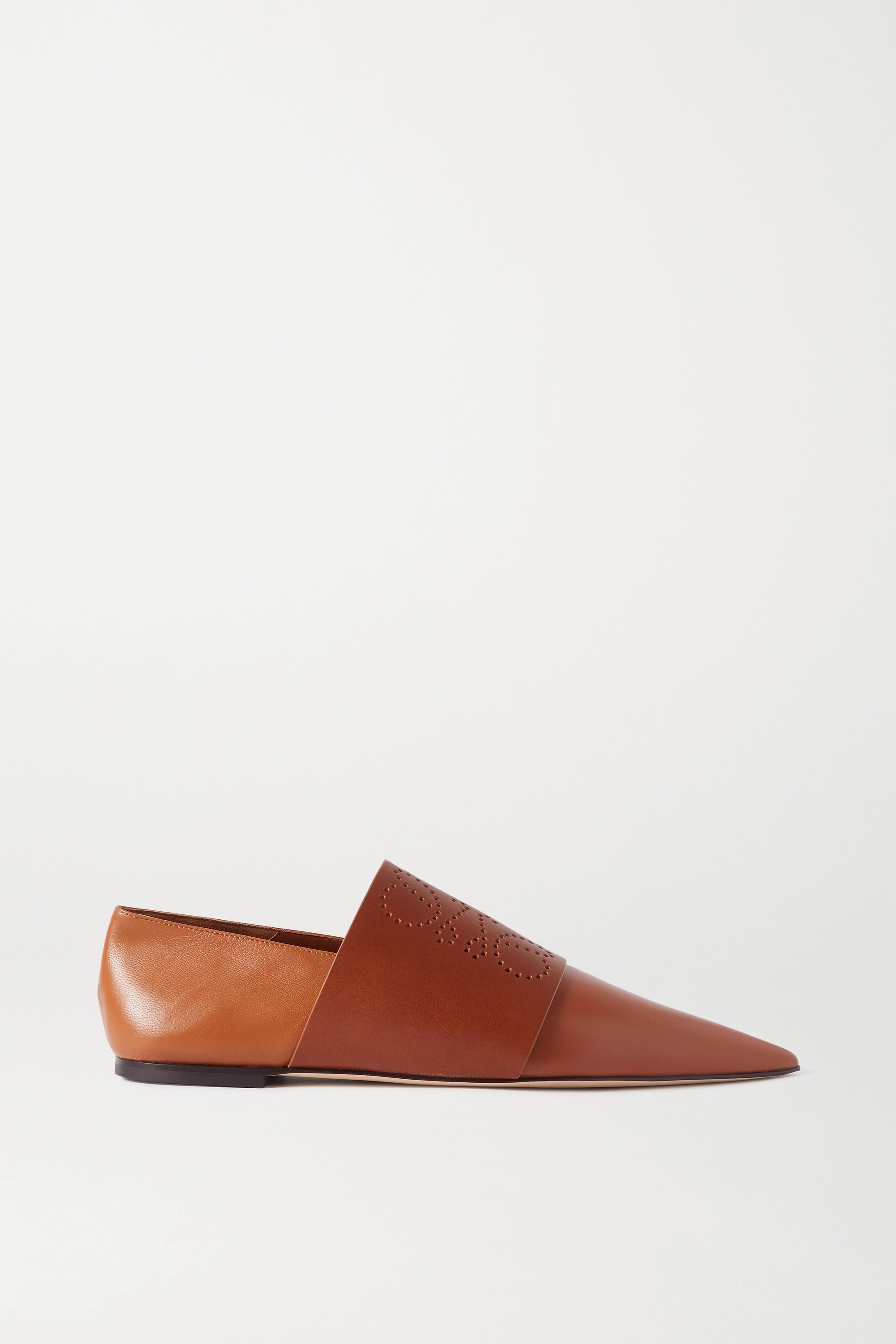 Loewe Perforated leather loafers