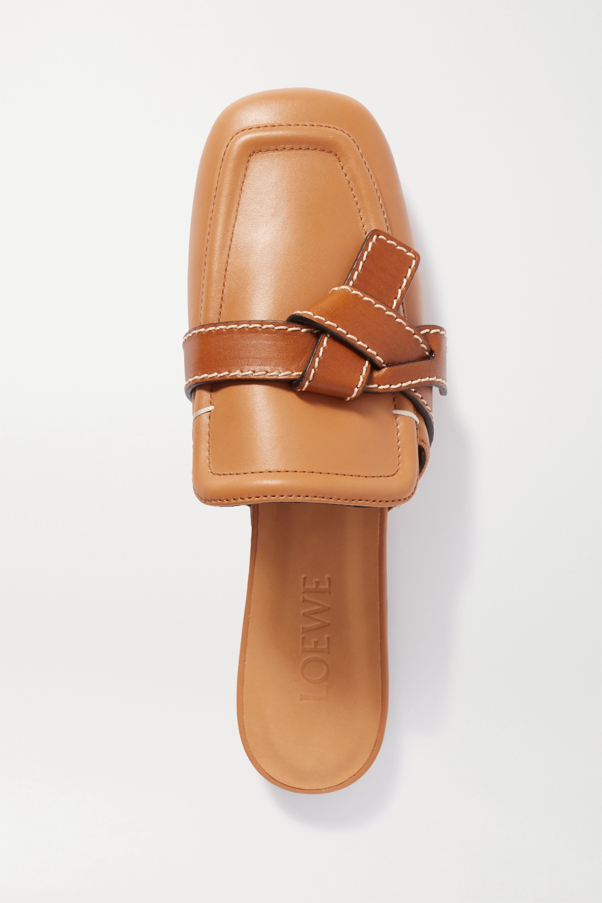 Loewe Gate two-tone topstitched leather loafers