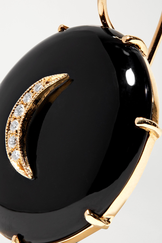 Gold 14-karat Gold, Onyx And Diamond Earrings   Andrea Fohrman