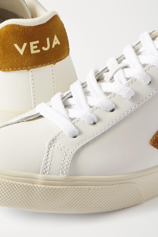 Veja Esplar suede-trimmed leather sneakers