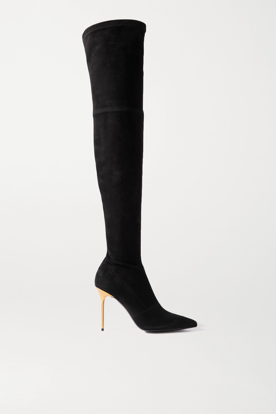 Balmain Suede over-the-knee boots