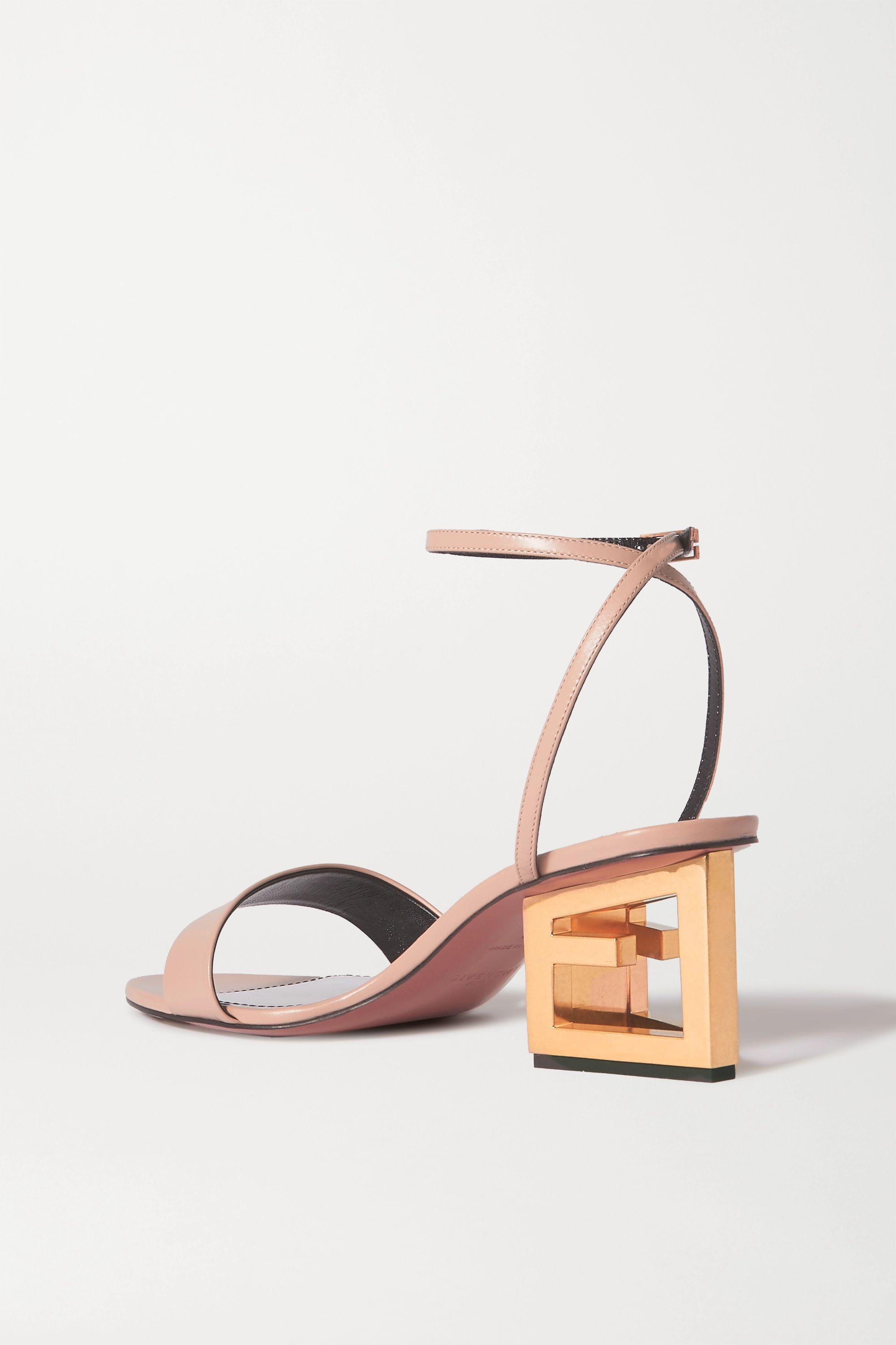 Beige Triangle Leather Sandals | Givenchy