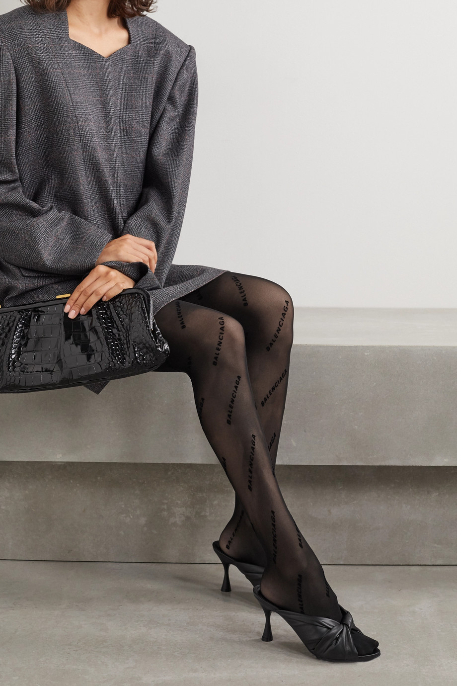 Balenciaga Flocked tights