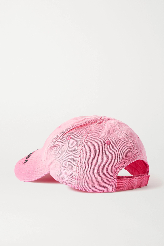 Fuchsia Embroidered Organic Denim Baseball Cap | Balenciaga