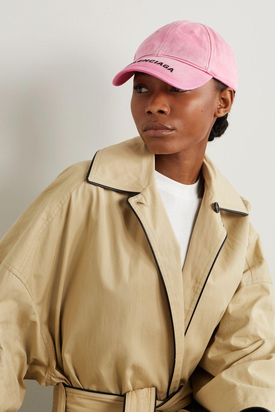 Balenciaga Embroidered organic denim baseball cap