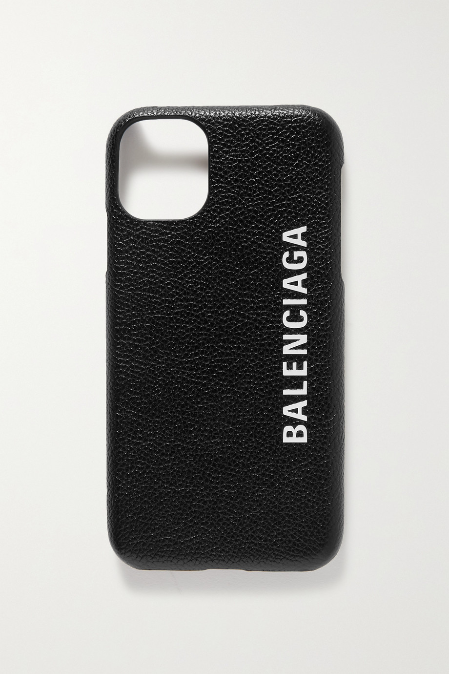 Balenciaga Printed textured-leather iPhone 11 case