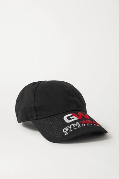 Balenciaga Accessories Embroidered cotton-twill cap