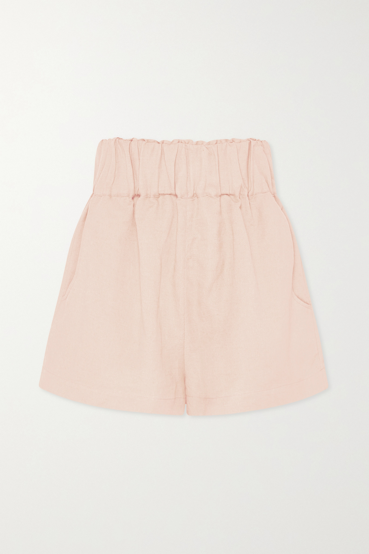 BONDI BORN + NET SUSTAIN Universal linen-blend shorts
