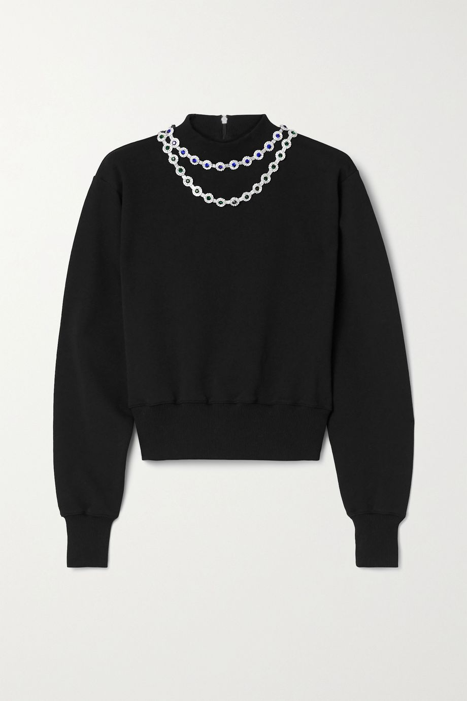 Christopher Kane Crystal-embellished cotton-jersey sweatshirt