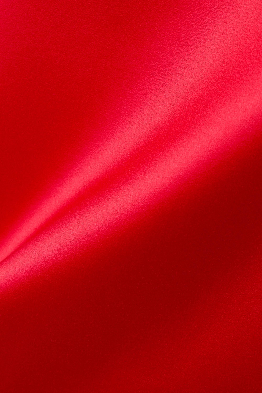 Red Duchesse-satin Midi Skirt | Christopher Kane