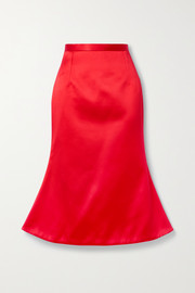 Christopher Kane Duchesse-satin midi skirt