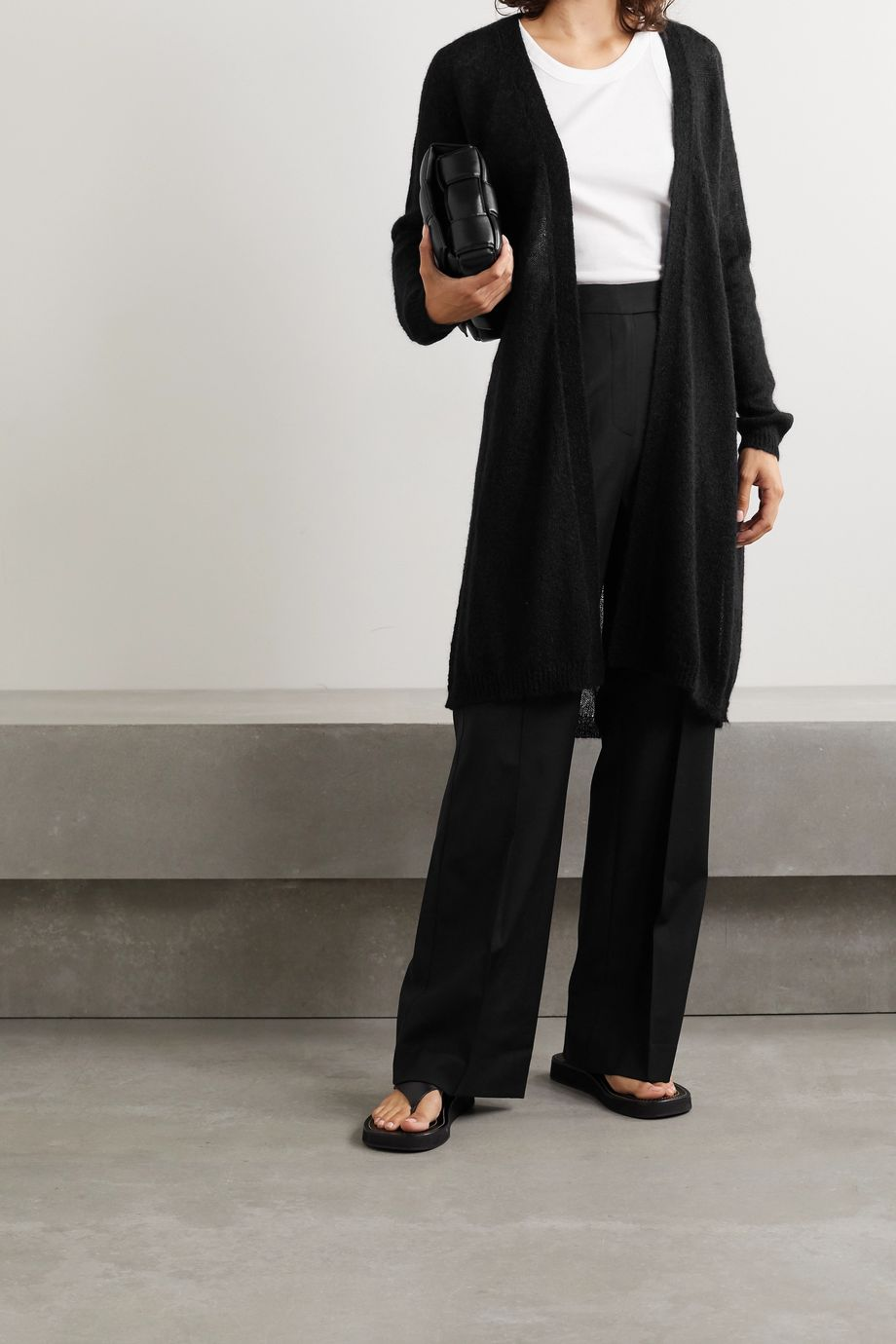 Max Mara Leisure Calante belted mohair-blend cardigan
