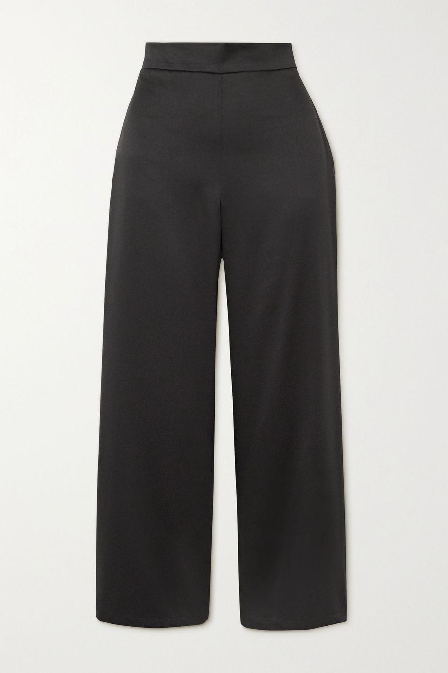 Max Mara Leisure washed-satin straight-leg pants