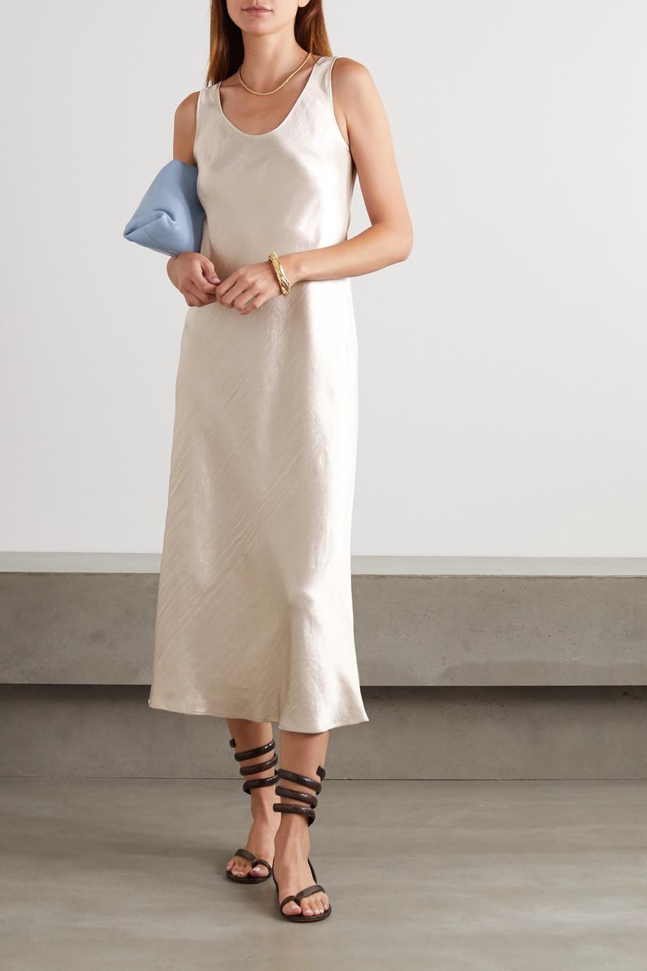 Max Mara Leisure washed-satin midi dress
