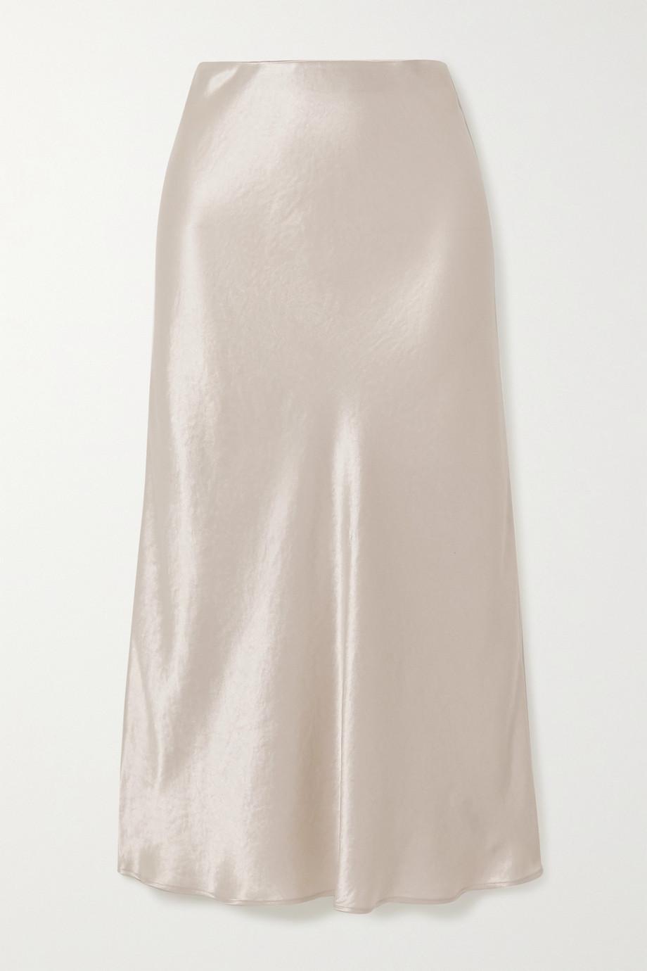 Max Mara Leisure washed-satin midi skirt